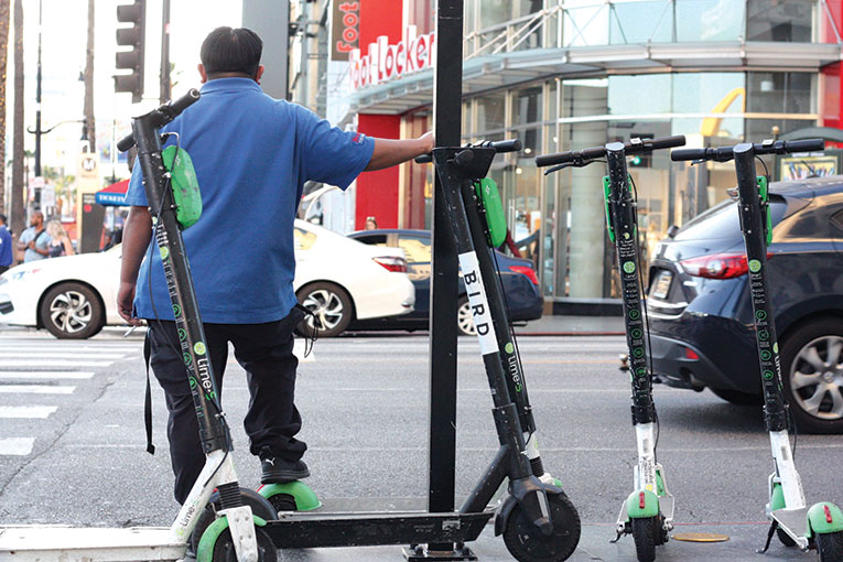 City Councilman Mitch O'Farrell wants to geo-fence the Hollywood Walk of Fame to keep dockless vehicles out. (photo by Jose Herrera)