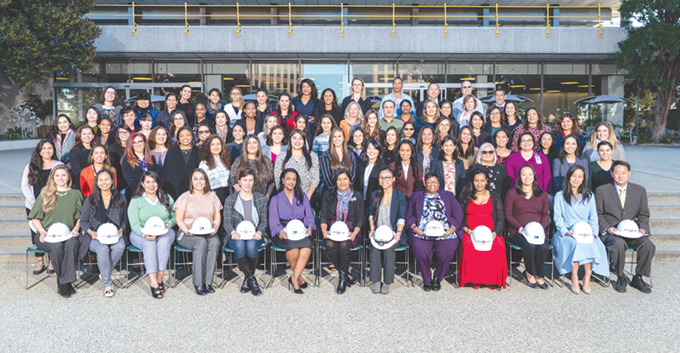 Members of LADWP Chapter of the Society of Women Engineers were recognized during a recent industry conference. (photo by Chris Corsmeier)