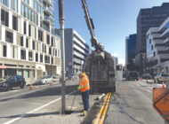 Subway work requires sidewalk and lane closures