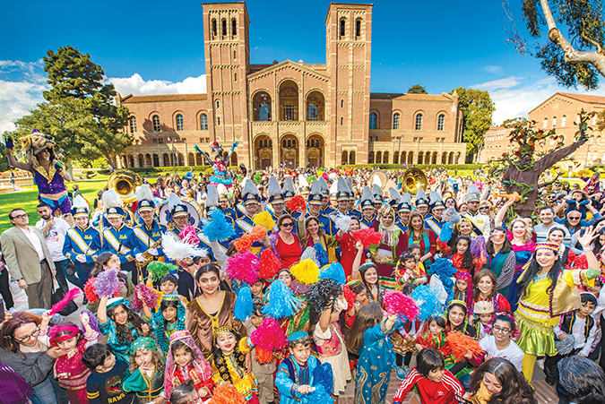 A crowd stands in front of Royce Hall during the Nowruz festival. (photo courtesy of Farhang Foundation)