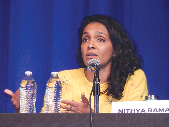 Fourth District City Council race candidate Nithya Raman may be headed for a runoff election against incumbent David Ryu. (photo by Edwin Folven)