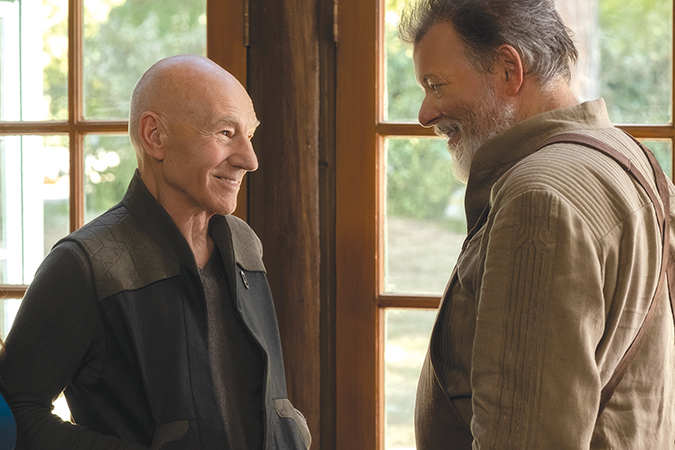 "Jean-Luc Picard (Patrick Stewart) reunites with Will Riker (Jonathan Frakes) in ""Star Trek: Picard,"" which also includes other familiar faces. (photo courtesy of CBS All Access)"