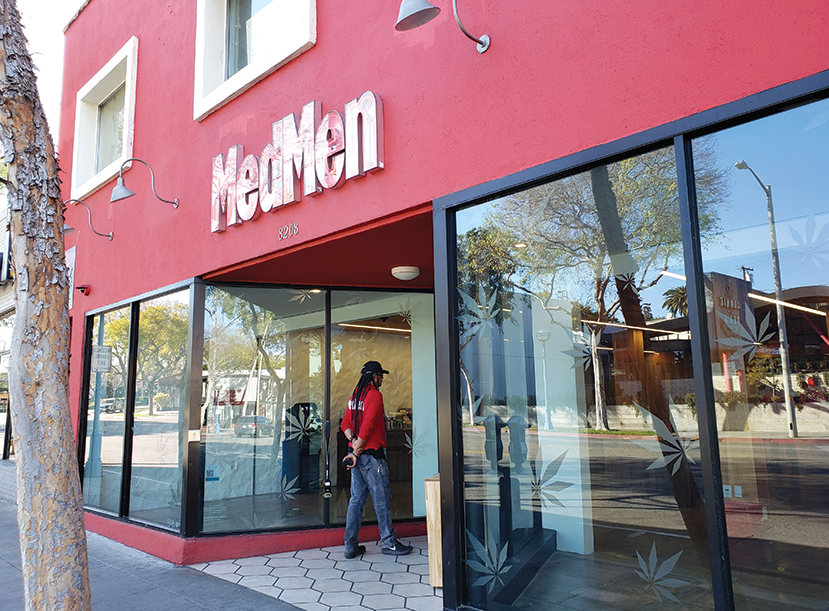 "MedMen West Hollywood is one of the ""WeHo Originals"" who are seeking changes to the city's cannabis rules. (photo by Cameron Kiszla)"