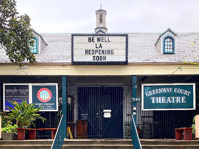 The Greenway Court Theatre closed and suspended events for a temporary time. (photo courtesy of Greenway Court Theatre)