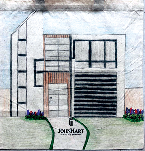 JohnHart Real Estate has received many contest submissions from children who are designing their dream house on a tote bag. (photo courtesy of JohnHart Real Estate)