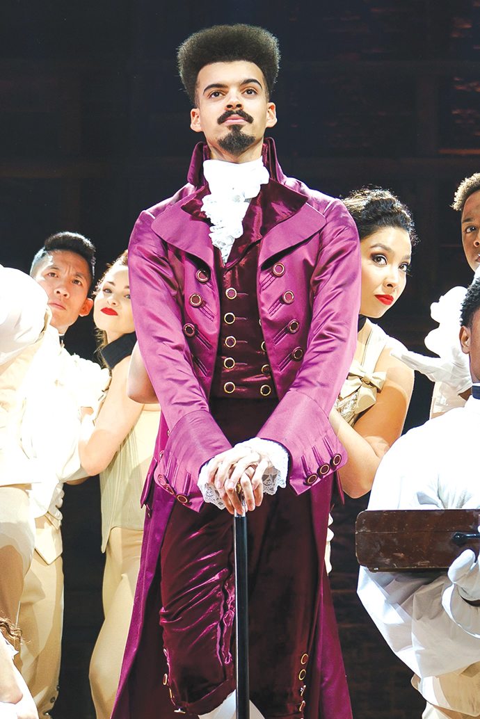 """Hamilton"" is headed to the Hollywood Pantages Theatre. The first show is on Thursday, March 12.(photo by Joan Marcus)"