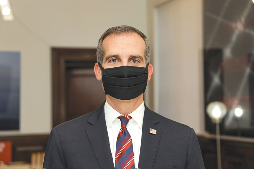 Los Angeles mayor requires face coverings when entering businesses ...
