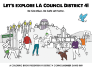 Coloring book entertains kids while educating about 4th District