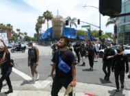 Protests grow more peaceful in Beverly Hills