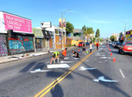 Doves painted on Melrose offer message of hope
