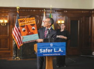 Garcetti unveils new public art encouraging mask use