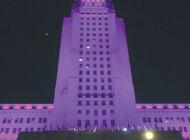 Purple lights mark International Overdose Awareness Day