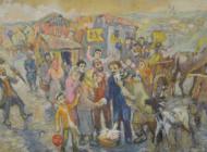 Art illustrates David Labkovski's perception of Jewish life