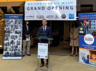 Garcetti celebrates opening of Residences on Main