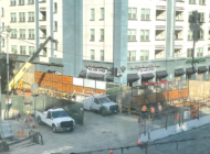 Subway work continues at many sites along route
