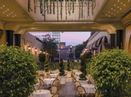 Open-air dining at THEBlvd Privé at Beverly Wilshire