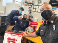 Firefighters mix thing up in the kitchen