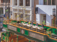 Dine in style atop The Grove's iconic trolley