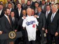 World Series champion Dodgers visit White House