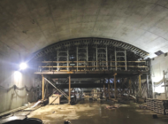 Subway work calls for tunneling machine removal