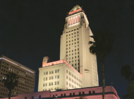 Orange lights at L.A. City Hall raise awareness about cancer