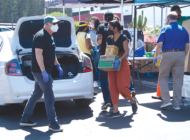 Mid City West distributes food to people in need