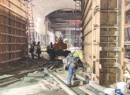 Subway work keeps picking up pace